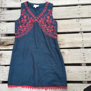 stitch fix skies are blue embroidered dress 8